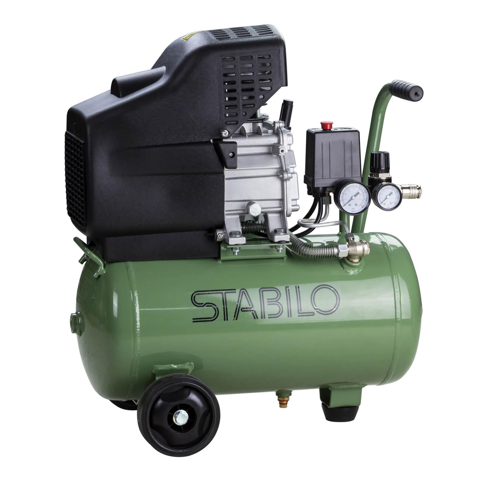 STABILO Druckluft Luft Kompressor 188L/min Kolbenkompressor Druckluftkompressor 24 Liter 24201