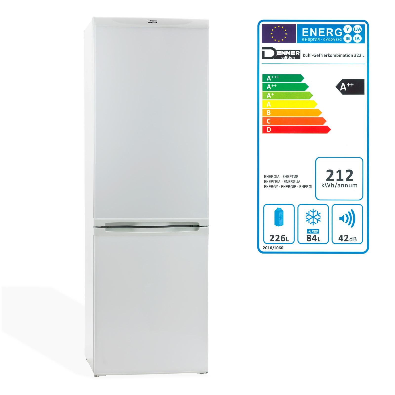 Kühl Gefrierkombination / Kühlschrank mit Gefrierfach 322 L A++