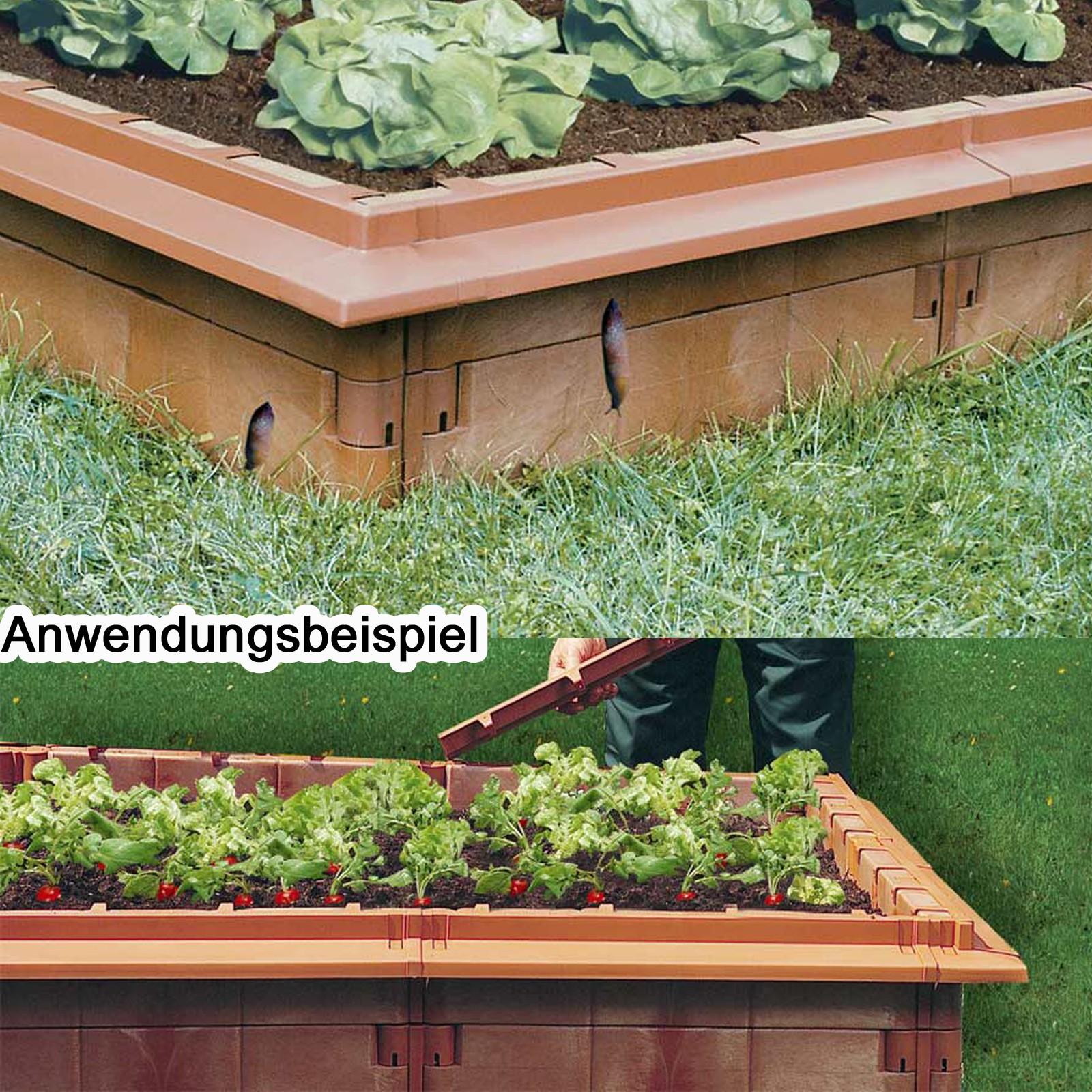 Juwel Hochbeet Schneckenkanten 10 Stuck Basalt Schneckenabwehr