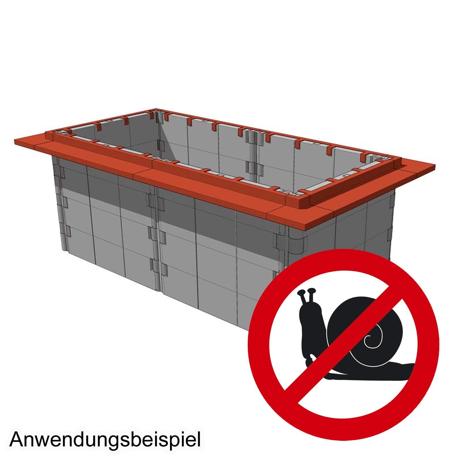 Juwel Hochbeet Schneckenkanten 10 Stück terracotta Schneckenabwehr 20328