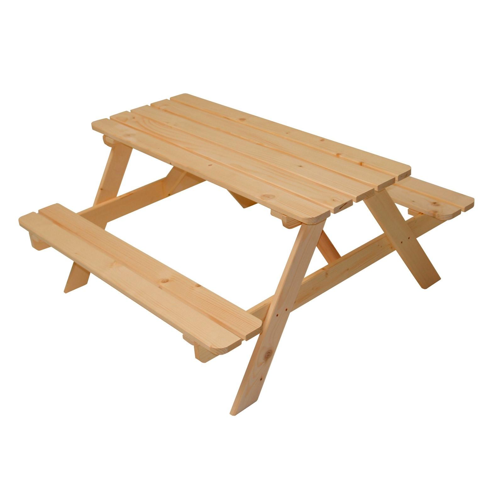 Kinder Sitzgruppe Picknick Tisch Bank Kombi Aus Fichtenholz