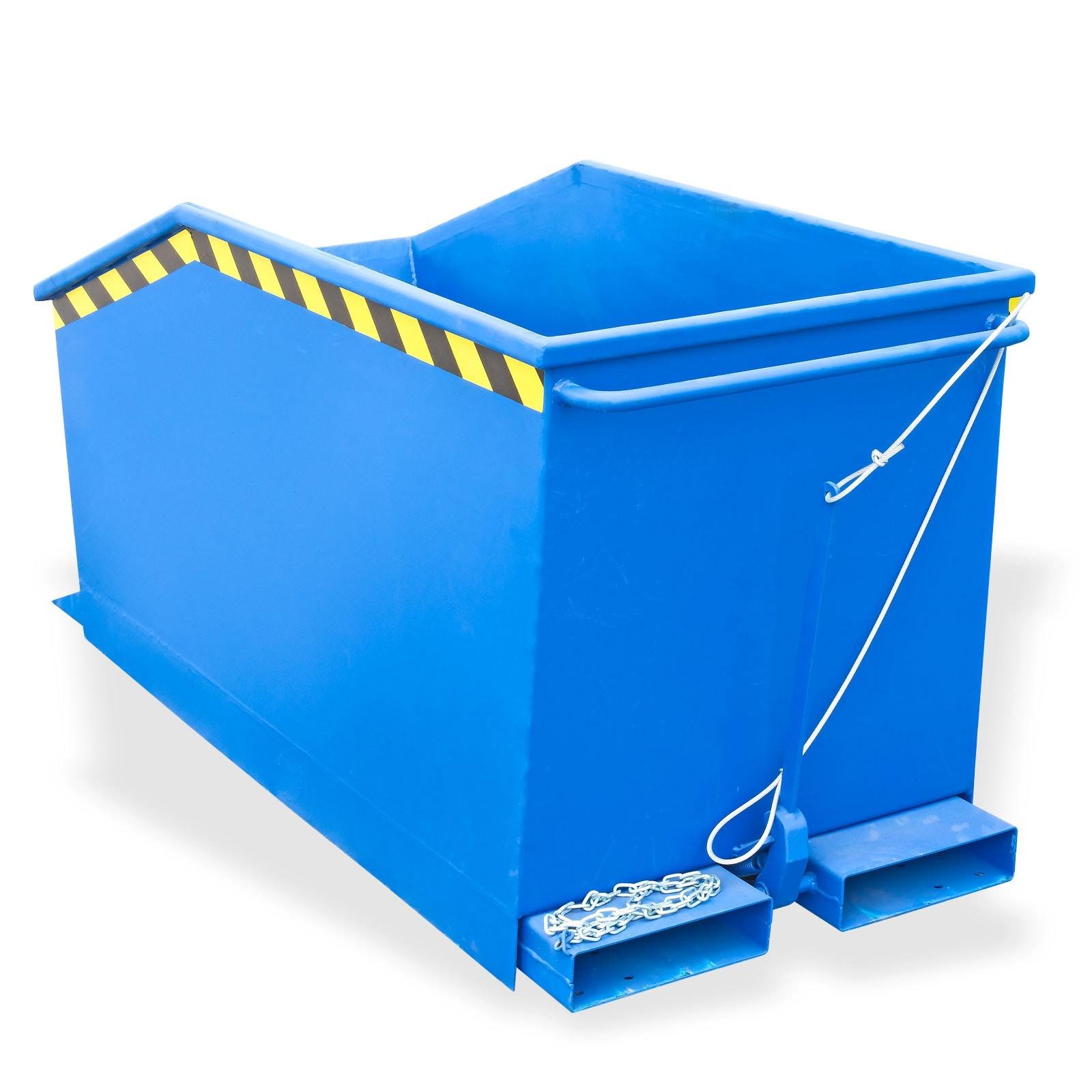 kippcontainer staplerkippmulde blau 500 liter 166x62x74 cm. Black Bedroom Furniture Sets. Home Design Ideas
