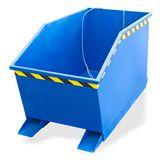 Kippcontainer / Staplerkippmulde Blau 500 Liter 166x62x74 cm