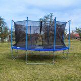 Riesen Trampolin / Gartentrampolin XXL 426 cm mit Sicherheitsnetz