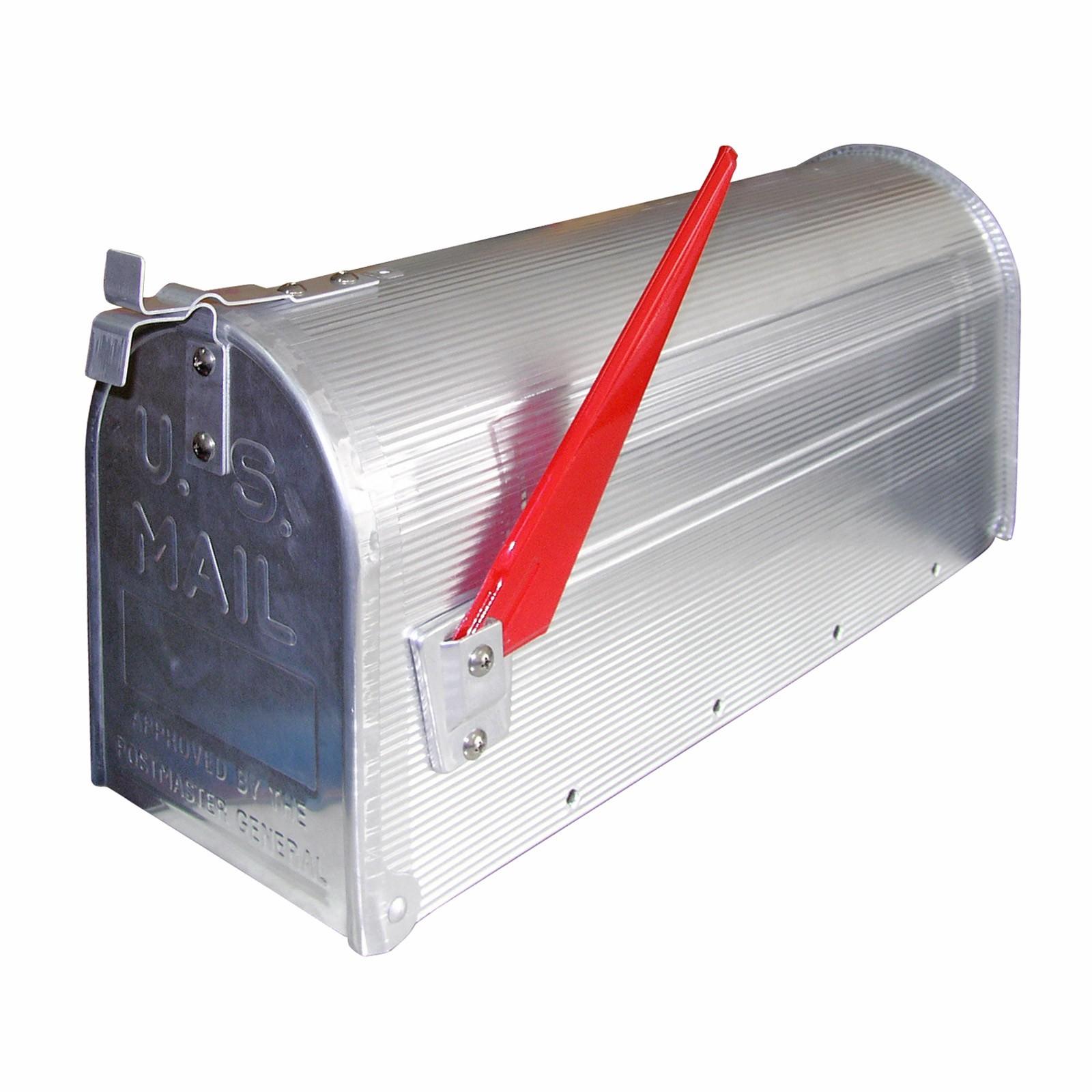 Amerikanischer Briefkasten briefkasten mailbox aus alu silber