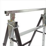 Metall Klappbock / Unterstellbock höhenverstellbar 68x58x80 - 130 cm