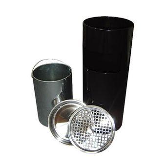 Standascher / Aschenbecher 25x61 cm mit Mülleimer / Abfalleimer – Bild $_i