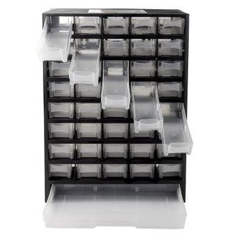 Kleinteile Sortierkasten / Kleinteilemagazin 41 Fächer schwarz/weiß – Bild $_i