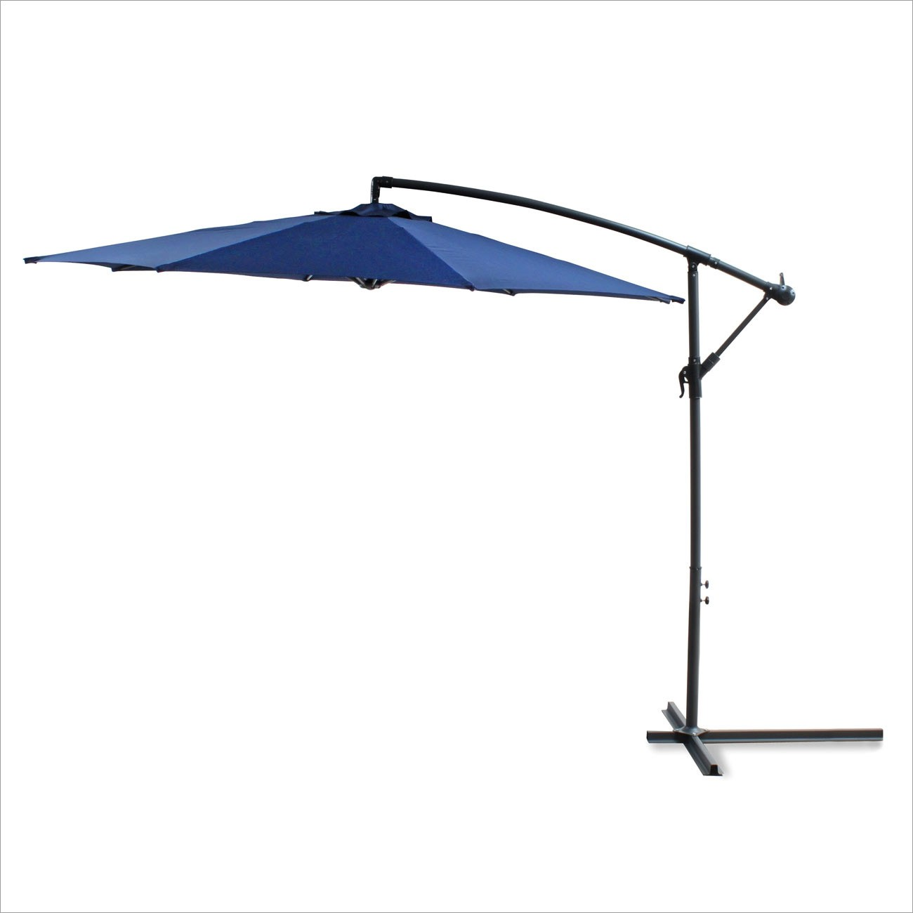 Dema Ampelschirm 3 Meter blau Sonnenschirm Gartenschirm Schirm Sonnenschutz 41157