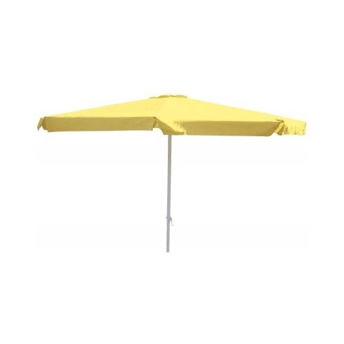 Alu Marktschirm Sonnenschirm 350 Cm Gelb Mit Kurbel