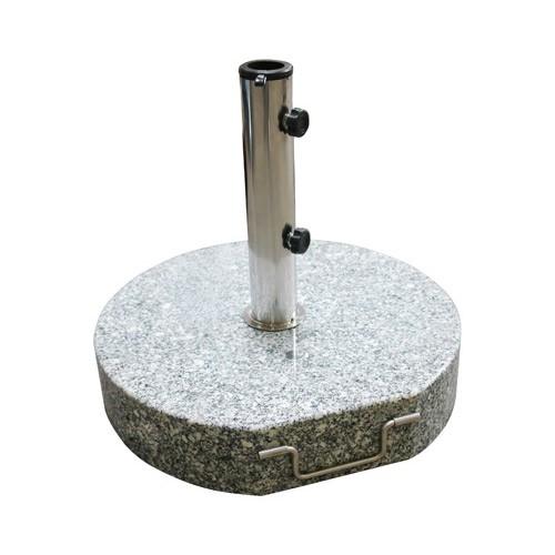 Dema Sonnenschirmständer / Schirmständer rund 45cm Granit 40 kg Rollen 41246