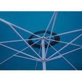 Alu Marktschirm / Sonnenschirm 350 cm blau mit Kurbel