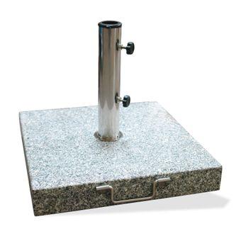 Sonnenschirmständer / Schirmständer eckig 45cm Granit 40kg Rollen – Bild $_i
