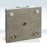Sonnenschirmständer / Schirmständer eckig 45cm Granit 40kg Rollen