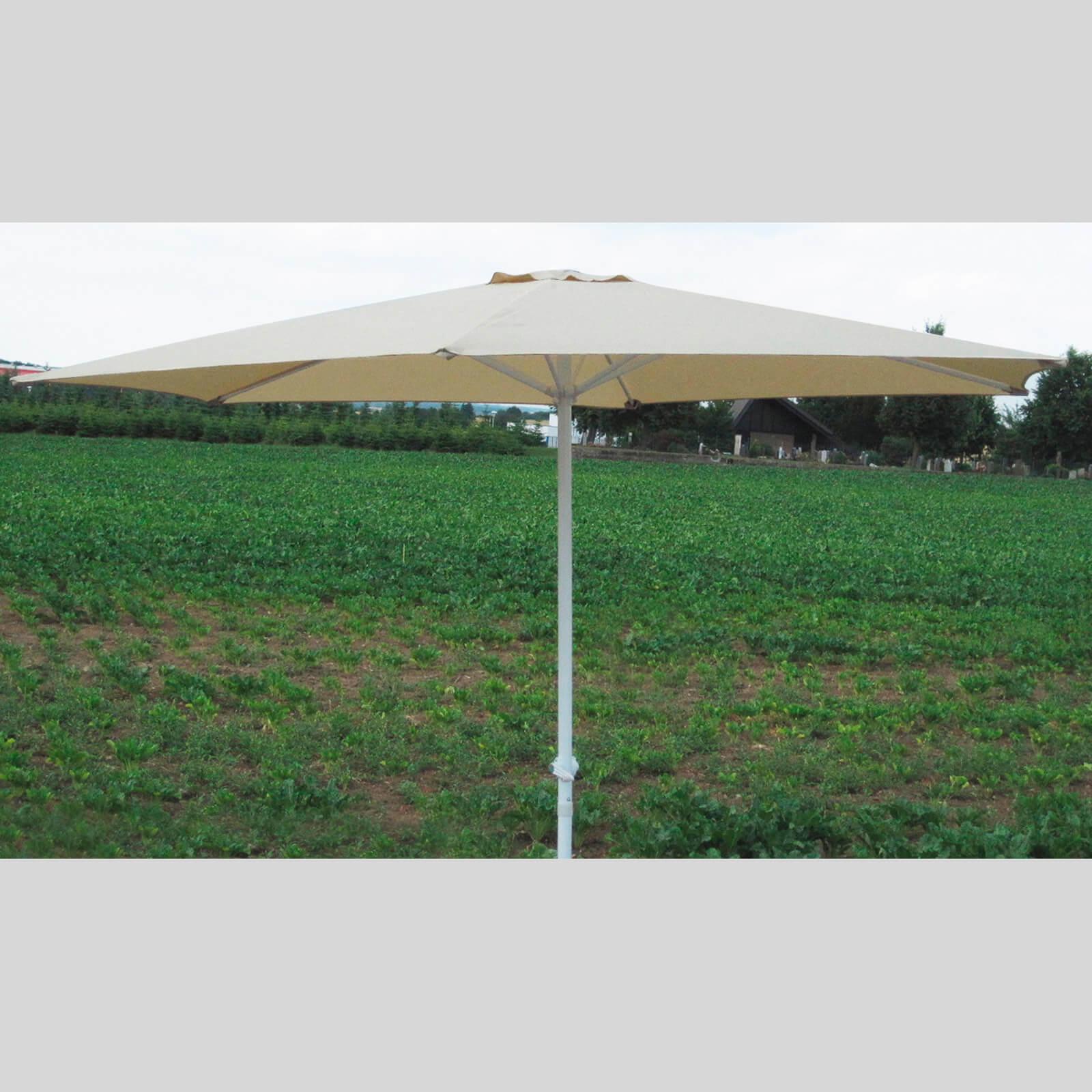 Dema Marktschirm Sonnenschirm 300 cm beige Kurbel Gartenschirm Schirm Sonnenschutz 41011
