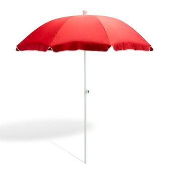 Strandschirm / Sonnenschirm terracotta 180 cm UV30 – Bild $_i
