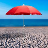 Strandschirm / Sonnenschirm terracotta 180 cm UV30