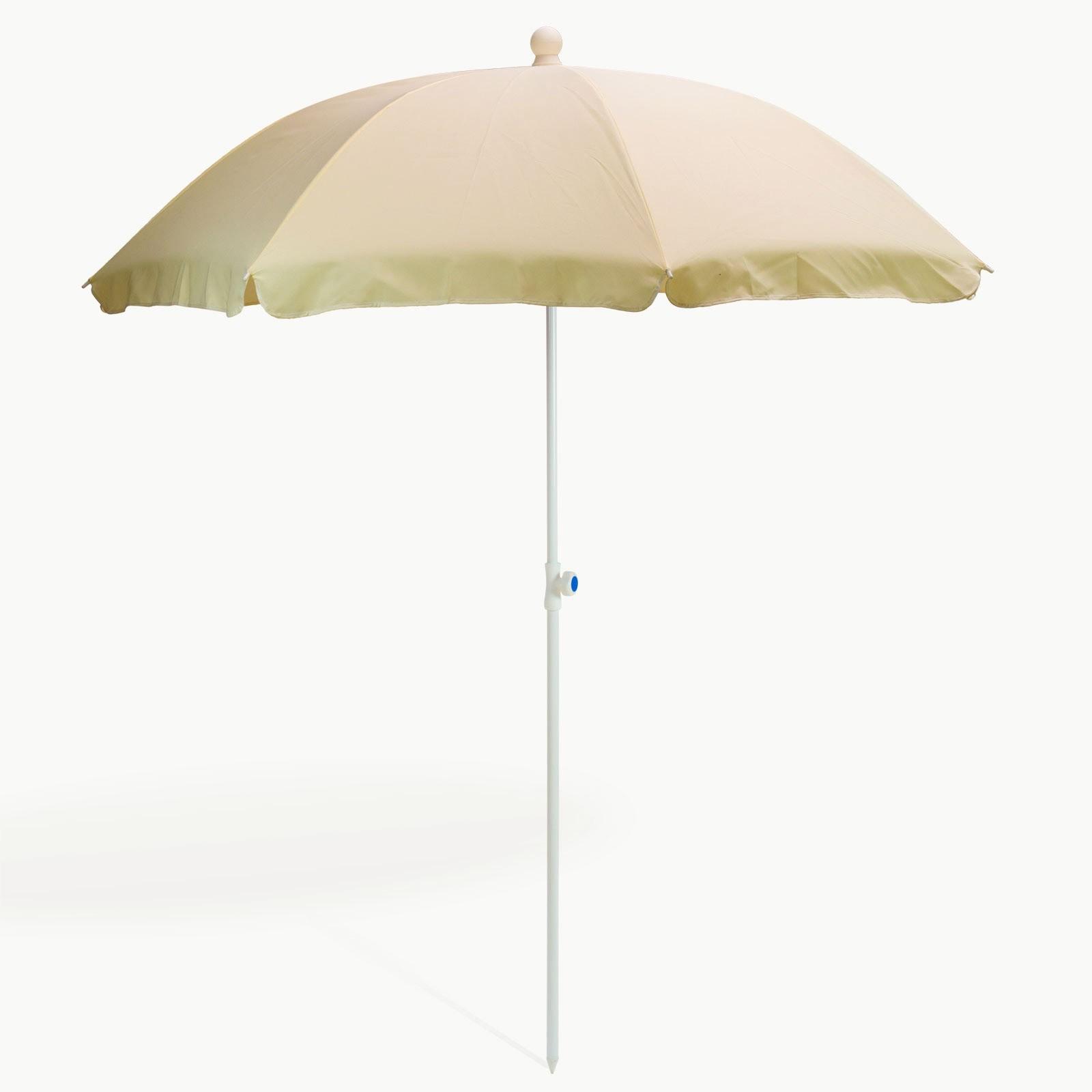 Dema Strandschirm natur/creme 180 cm UV30 Sonnenschirm Gartenschirm Schirm 41275