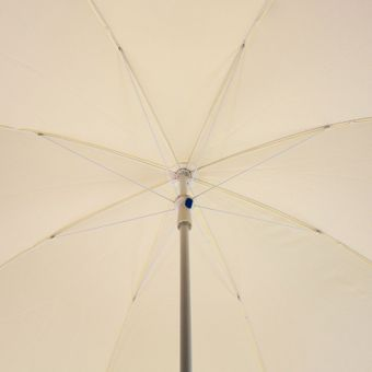 Strandschirm / Sonnenschirm natur/creme 180 cm UV30 – Bild $_i