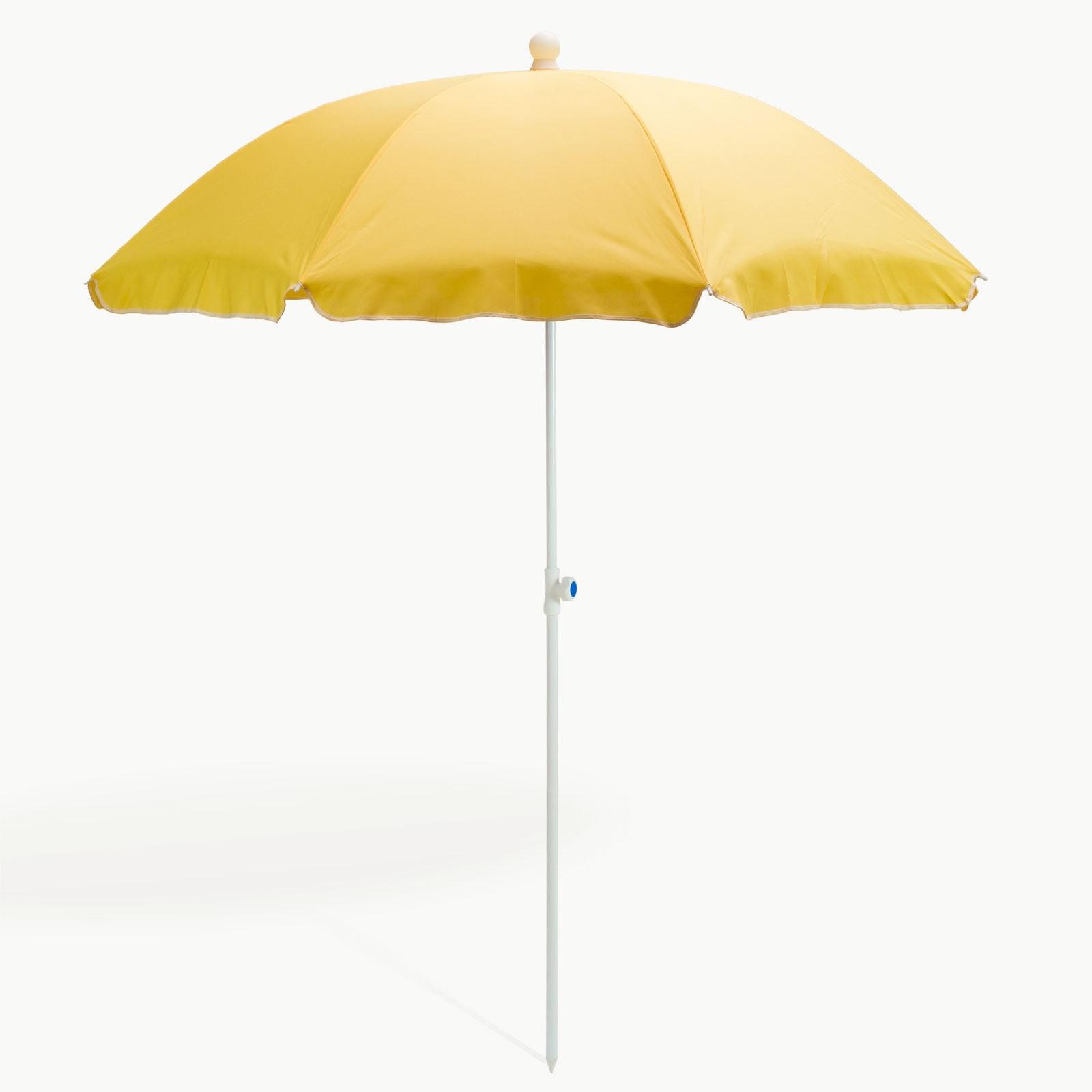 Dema Strandschirm gelb 180 cm UV30 Sonnenschirm Gartenschirm Schirm 41274