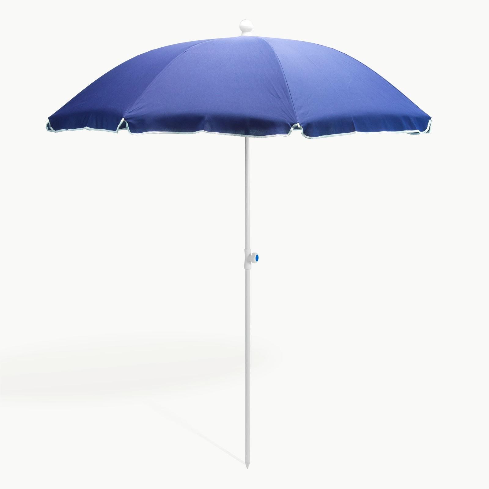 Dema Strandschirm blau 180 cm UV30 Sonnenschirm Gartenschirm Schirm 41273