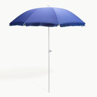 Strandschirm / Sonnenschirm blau 180 cm UV30 – Bild $_i