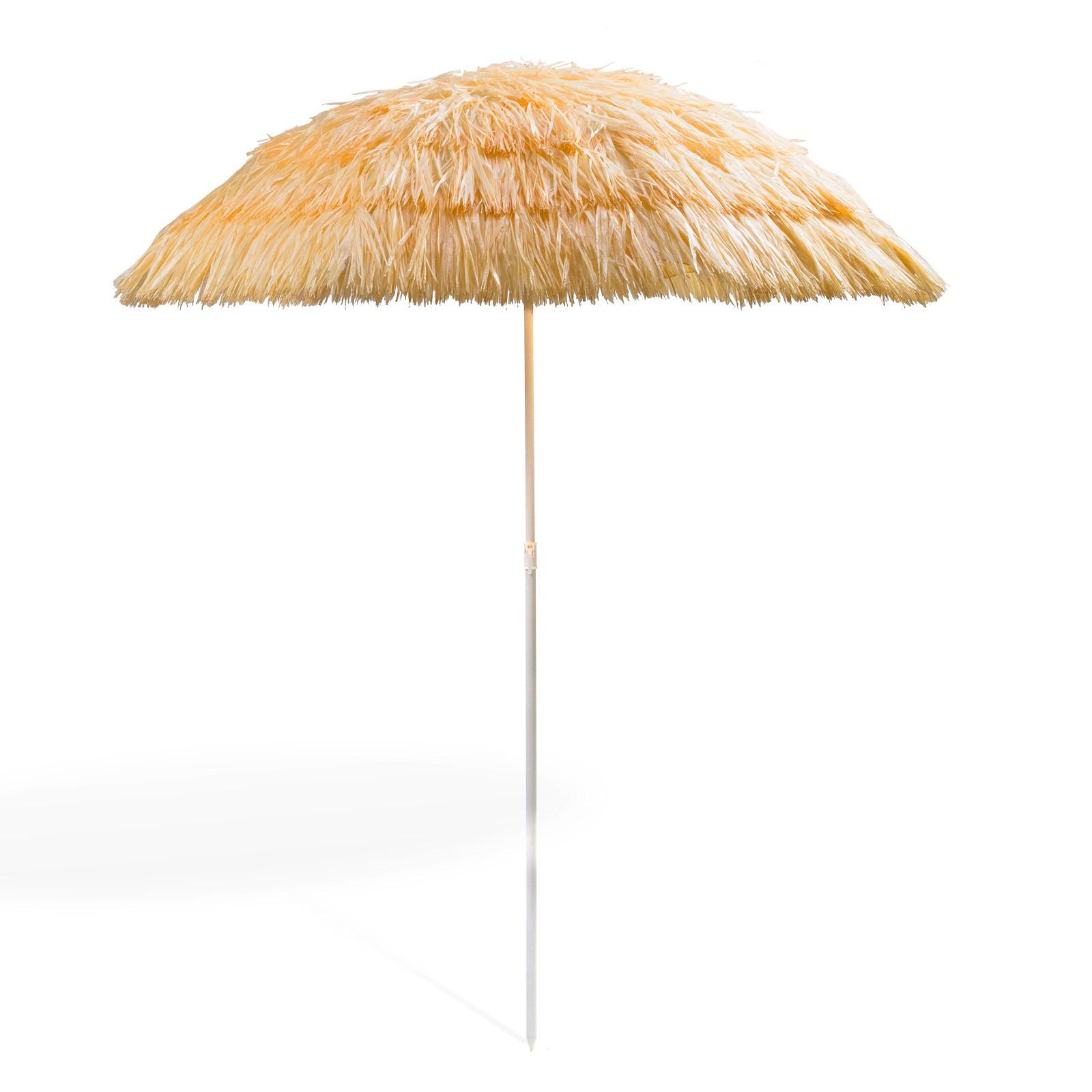 hawaii sonnenschirm strohschirm natur 160 cm uv 30. Black Bedroom Furniture Sets. Home Design Ideas