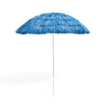 Hawaii Sonnenschirm / Strohschirm blau 160 cm UV30 – Bild $_i