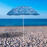 Hawaii Sonnenschirm / Strohschirm blau 160 cm UV30