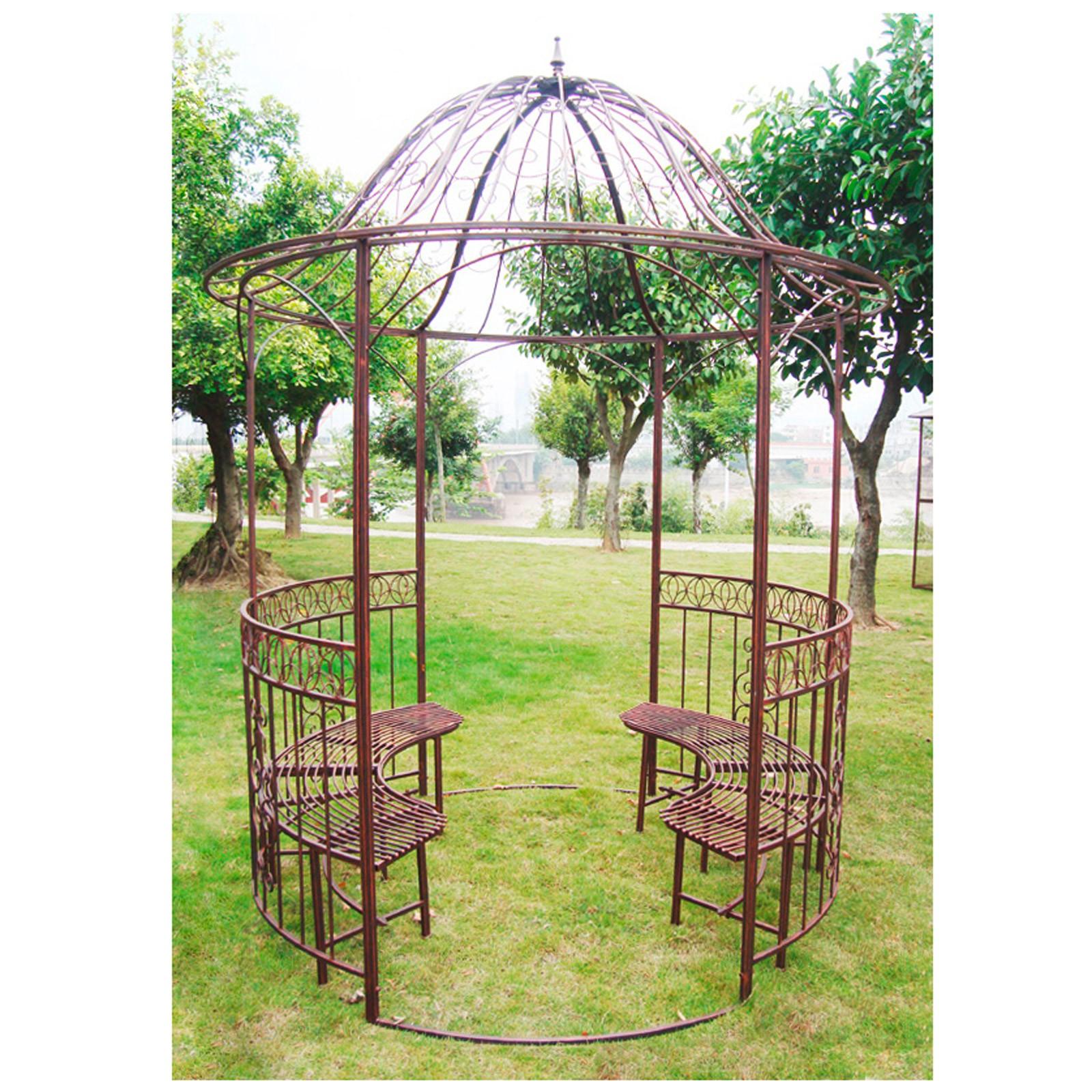 garten pavillon metallpavillon sun antik kupfer look. Black Bedroom Furniture Sets. Home Design Ideas