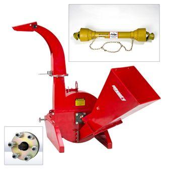 SET Holzhäcksler WS5 + Zapfwelle + Rutschkupplung 1000 Nm
