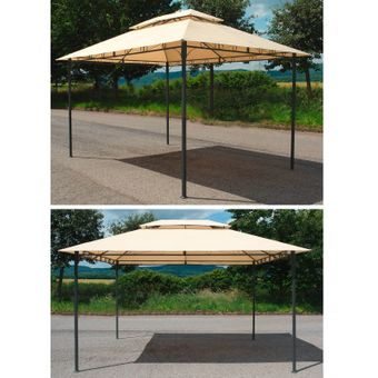 Gartenpavillon / Metallpavillon 3x4 Meter beige