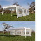 Partyzelt / Gartenzelt 3x9 m weiß