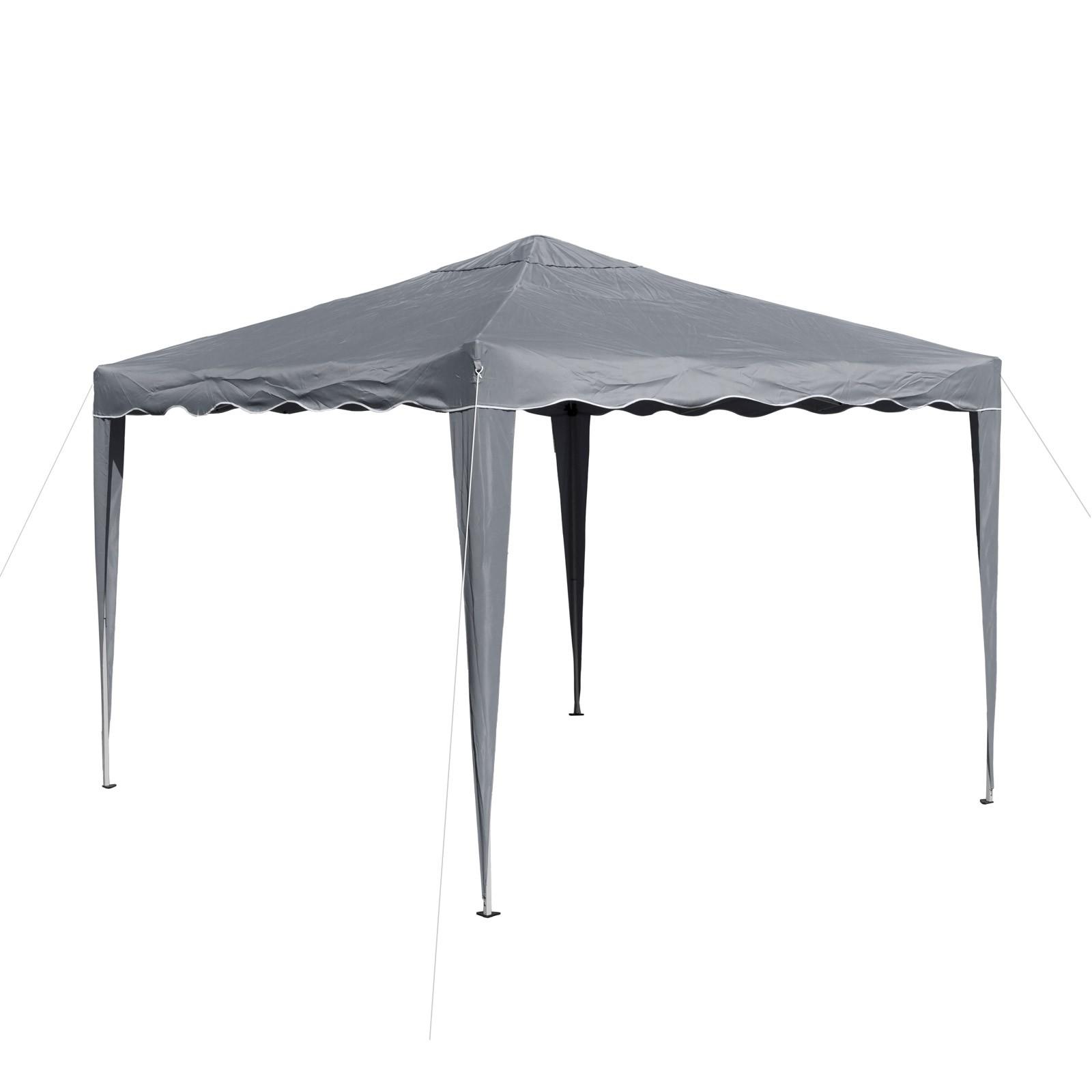 gartenpavillon faltpavillon alu metall 3x3 meter grau gartenzelt partyzelt ebay. Black Bedroom Furniture Sets. Home Design Ideas