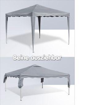 Gartenpavillon / Faltpavillon Alu/Metall 3x3 Meter grau – Bild $_i