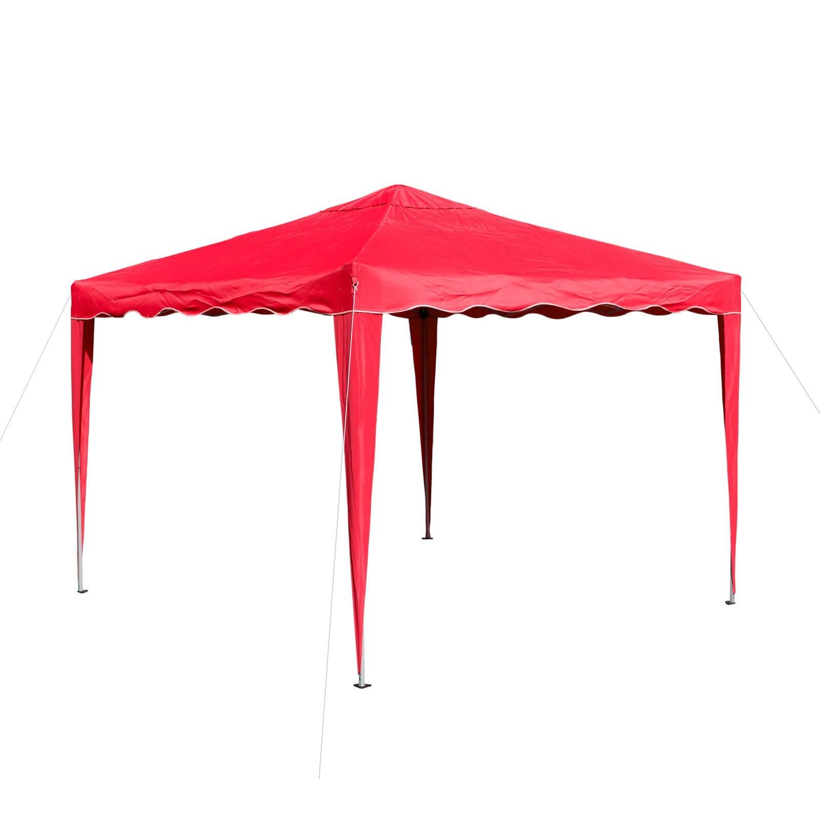 Dema Pavillon Gartenpavillon Faltpavillon Alu/Metall 3x3m rot Gartenzelt Partyzelt 14213