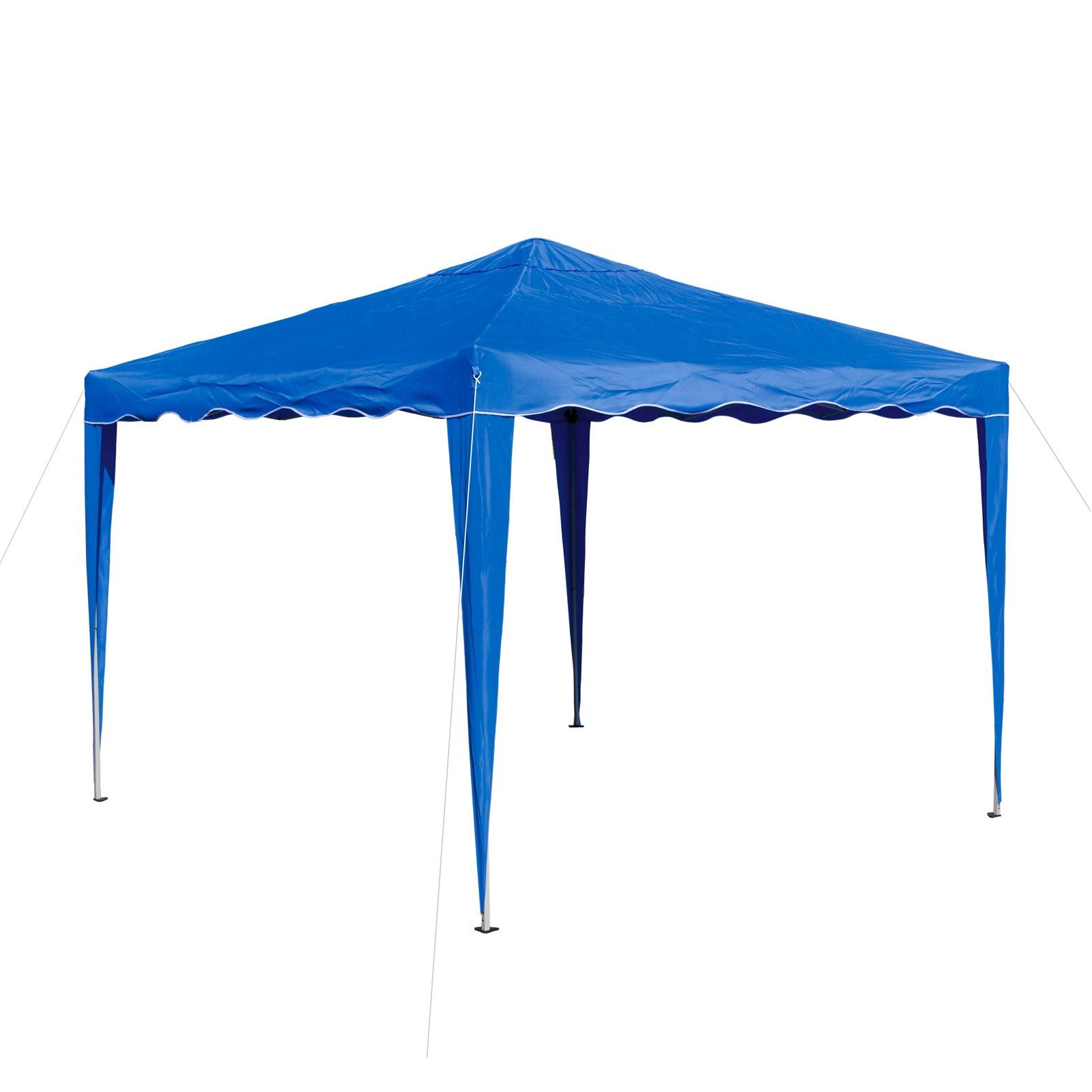 Dema Pavillion Gartenpavillon Faltpavillon Alu/Metall 3x3m hellblau Garten Partyzelt 14215