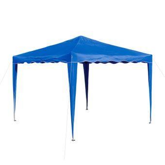 Gartenpavillon / Faltpavillon Alu/Metall 3x3 Meter hellblau – Bild $_i