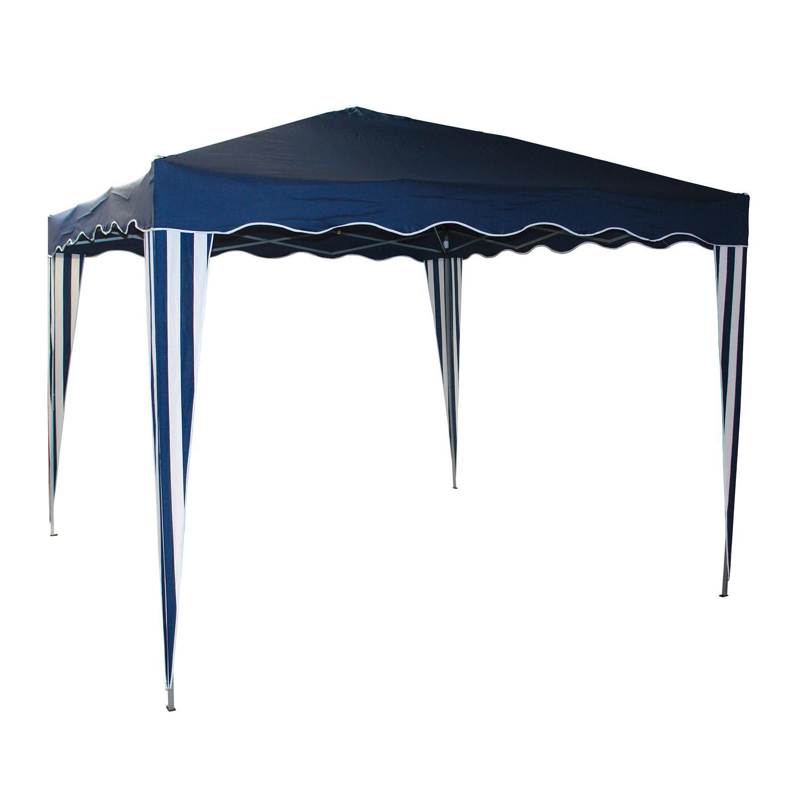 Dema Pavillion Gartenpavillon Faltpavillon Alu/Metall 3x3m blau 41047