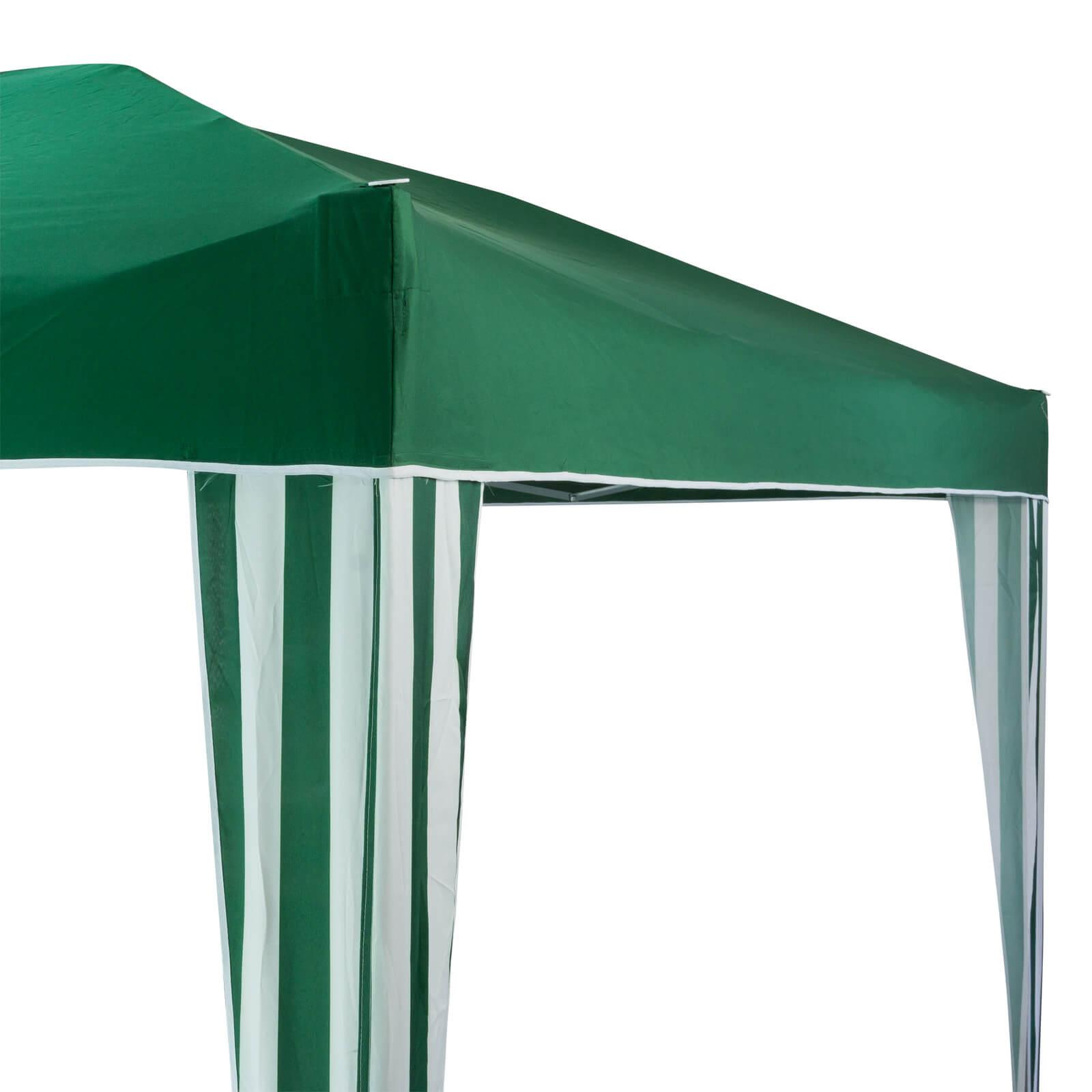 gartenpavillon faltpavillon alu metall 3x3 meter gr n. Black Bedroom Furniture Sets. Home Design Ideas