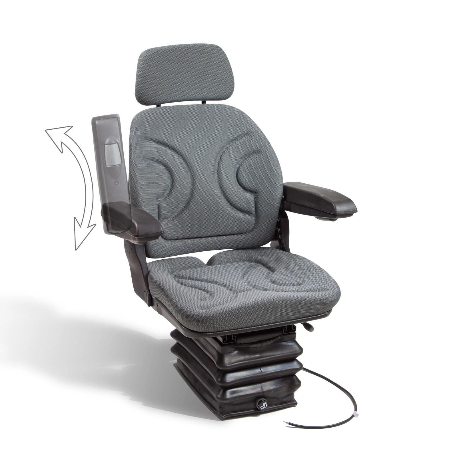 Dema Universal Traktorsitz Schleppersitz Sitz Staplersitz Luftgefedert mit Armlehne 52475