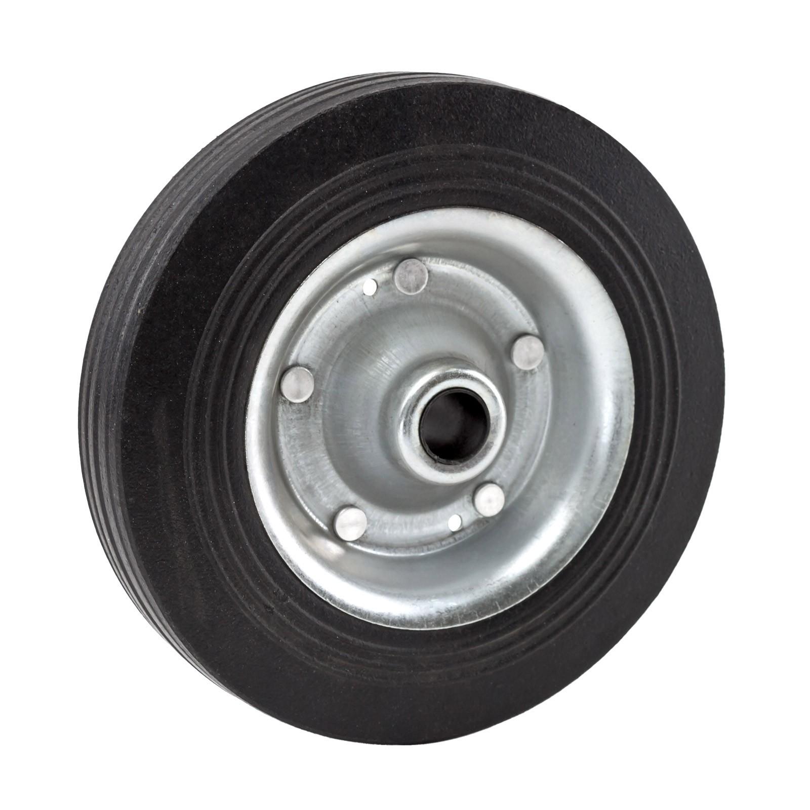 Dema Vollgummi Metall Ersatz Rad Reifen zu Stützrad Stütze Anhänger Wohnwagen 20107