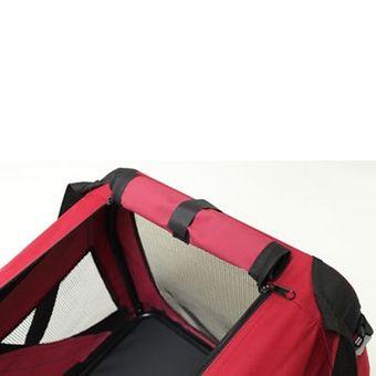 Hundebox / Katzenbox faltbar rot Nylon 70x52x52cm Transportbox – Bild $_i