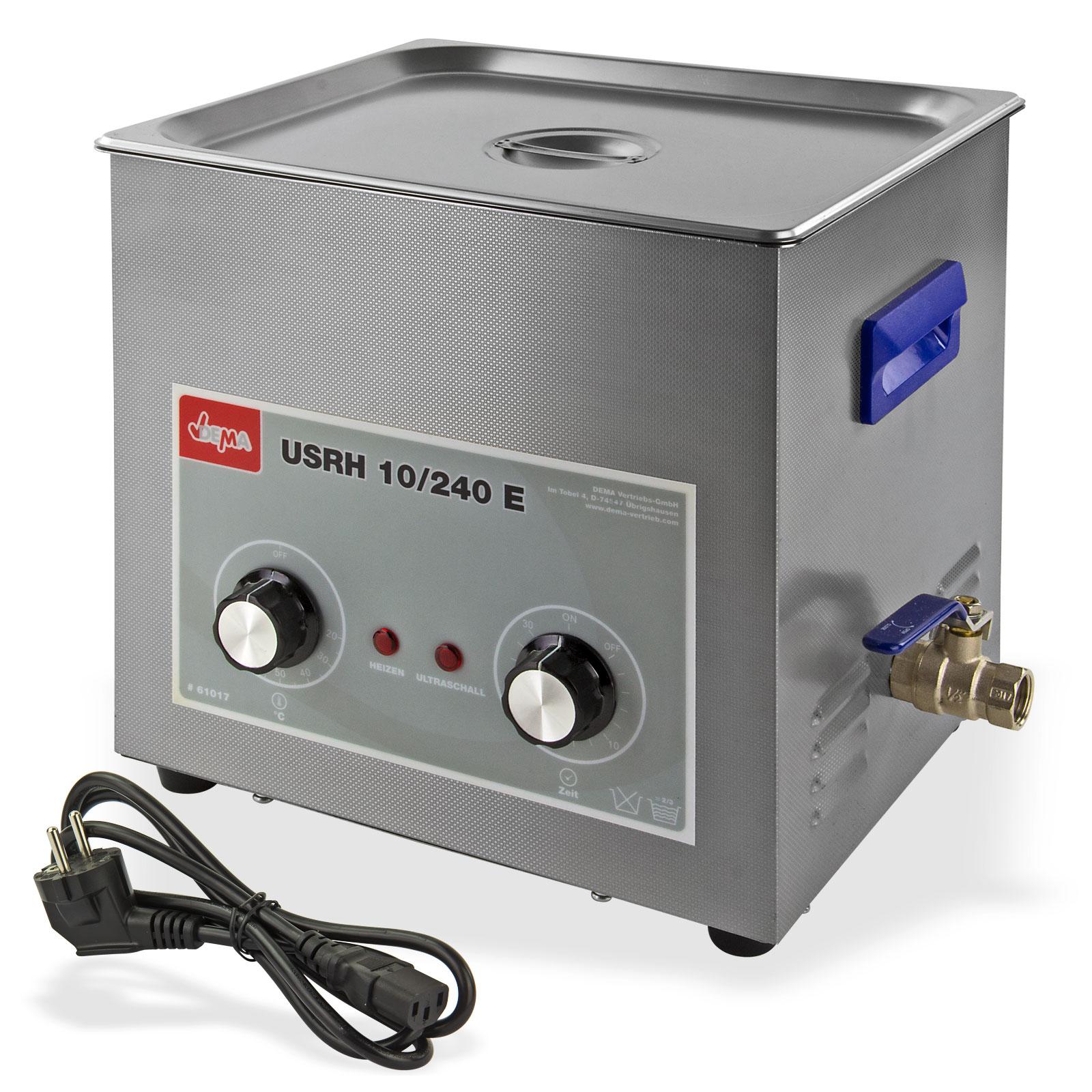 Dema Ultraschallreiniger / Ultraschallbad UR 10 Liter mit Heizung 61017