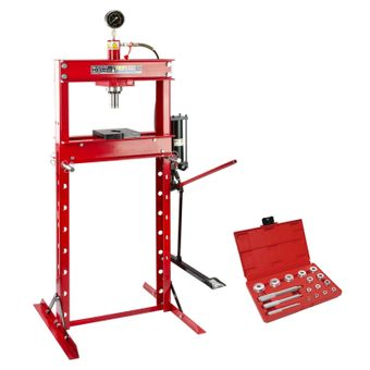 SET 20 Tonnen Werkstattpresse manuell / Pedal + Lagertreibsatz 14-tlg. LT17 – Bild $_i
