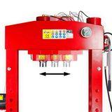 SET 75 Tonnen Werkstattpresse manuell / pneumatisch + Druckstücksatz 10 tlg