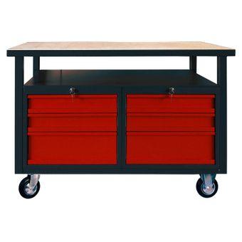 Werkbank / Werktisch 6 Schubladen mit Rollen – Bild $_i