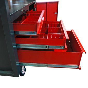Werkbank / Werktisch mit Rollen, 3 Schubladen, 1 Tür, fahrbar – Bild $_i