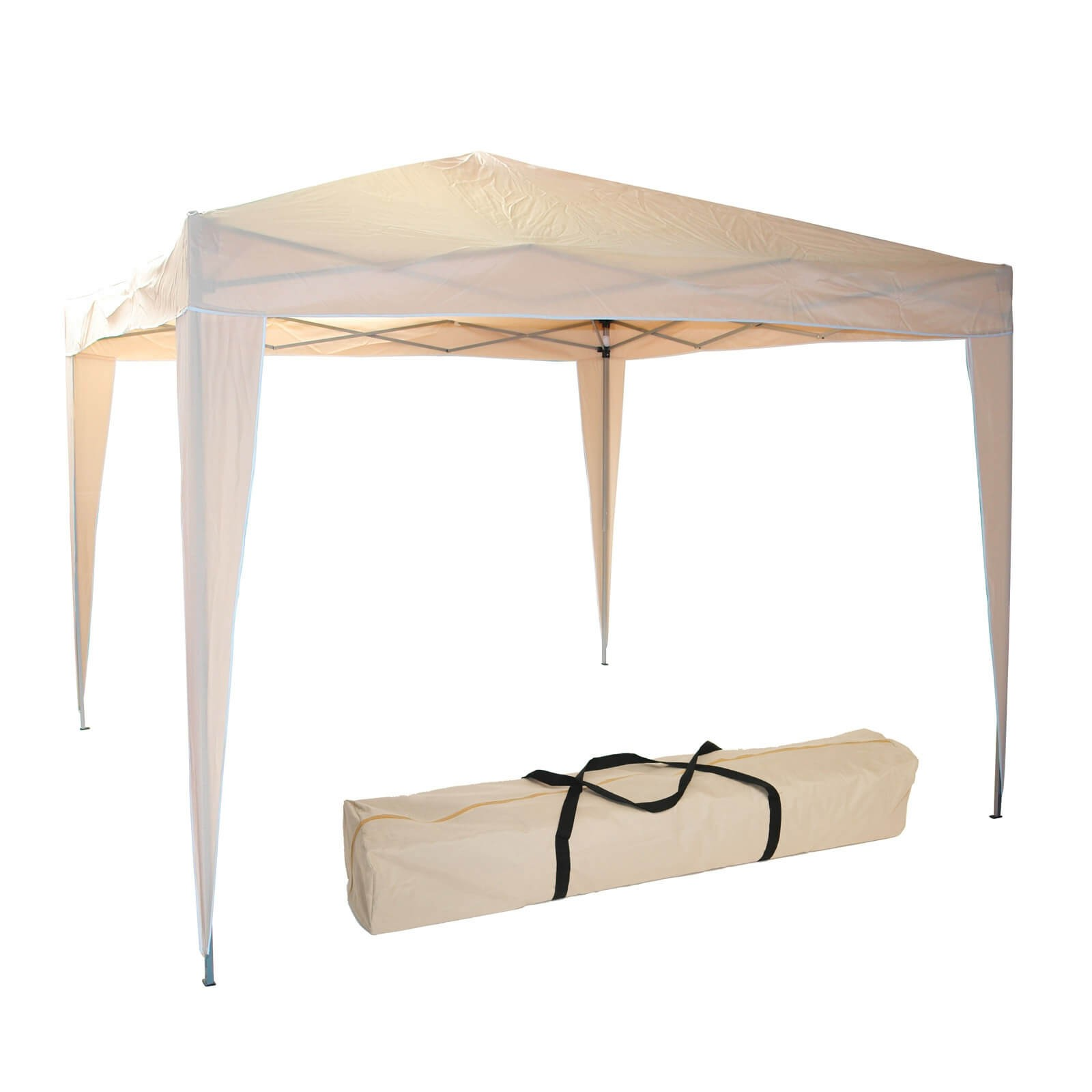 Dema Alu Gartenpavillon / Faltpavillon / Pavillon 3x3m Beige 41046