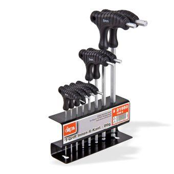 Innensechskantschlüssel Set 8-tlg ITD CV-Stahl Kugel T-Griff